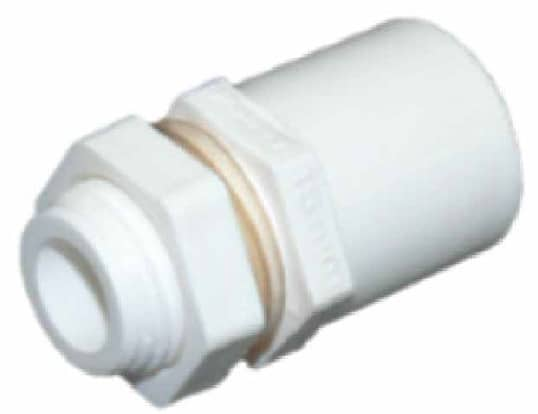 PVC Valve Socket Male With Lock Nut